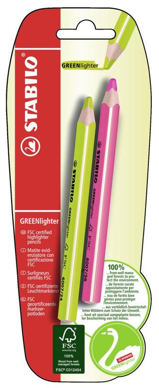 Текстовыделитель сухой GREENlighter 2 шт.