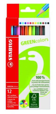 Набор цветных карандашей GREENcollors, 12 цв.