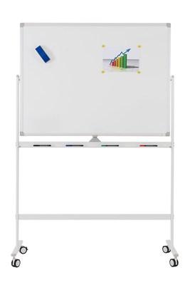 Мобильная доска белая вращающаяся с лаковым покрытием, Office level 1200x900мм